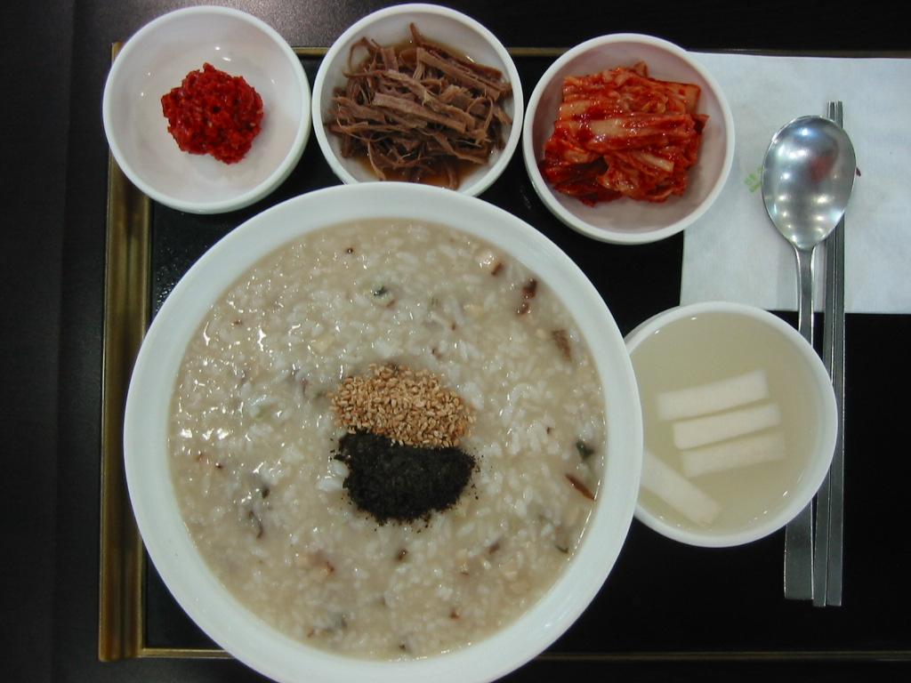 200312 韓国 あわび粥