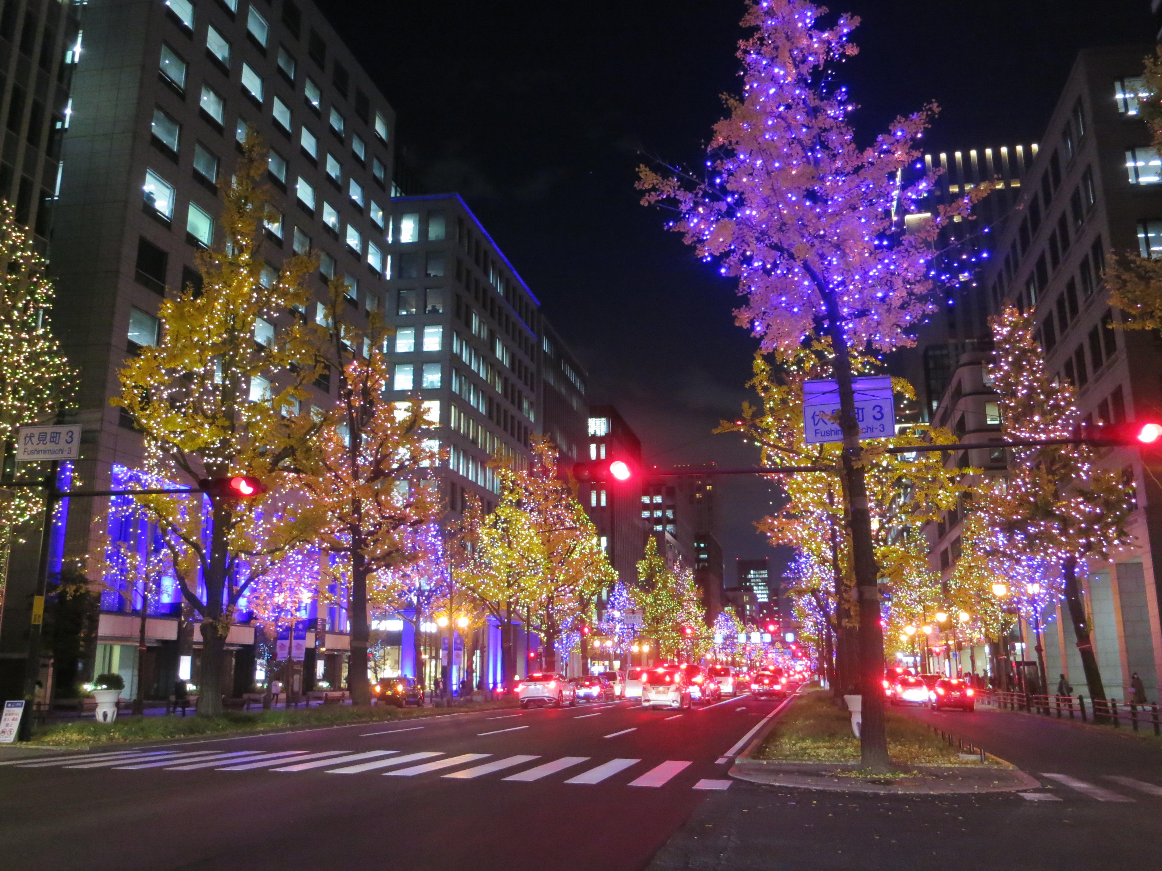 201224 御堂筋 夜景
