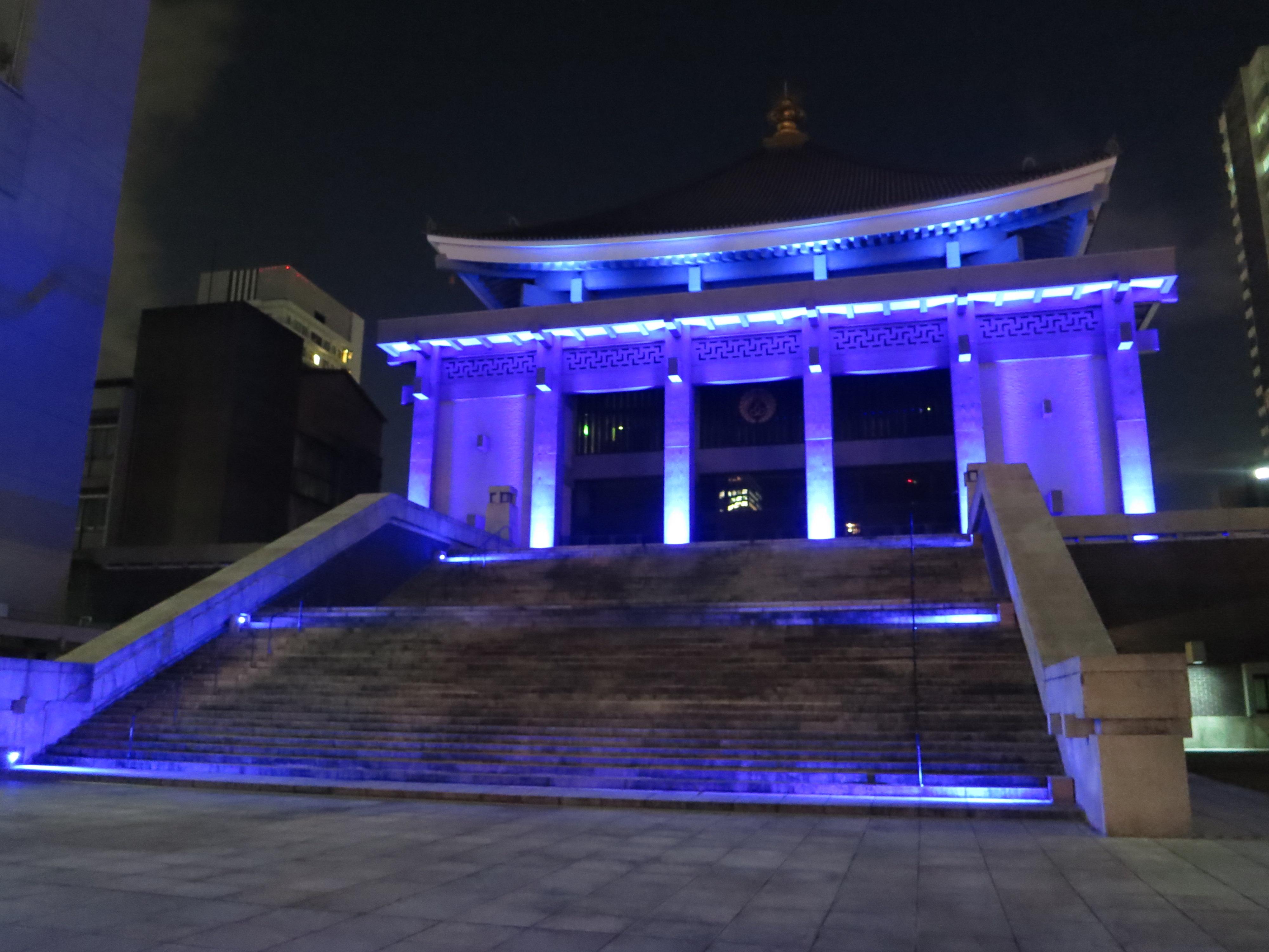 201225 大阪北御堂 ライトアップ