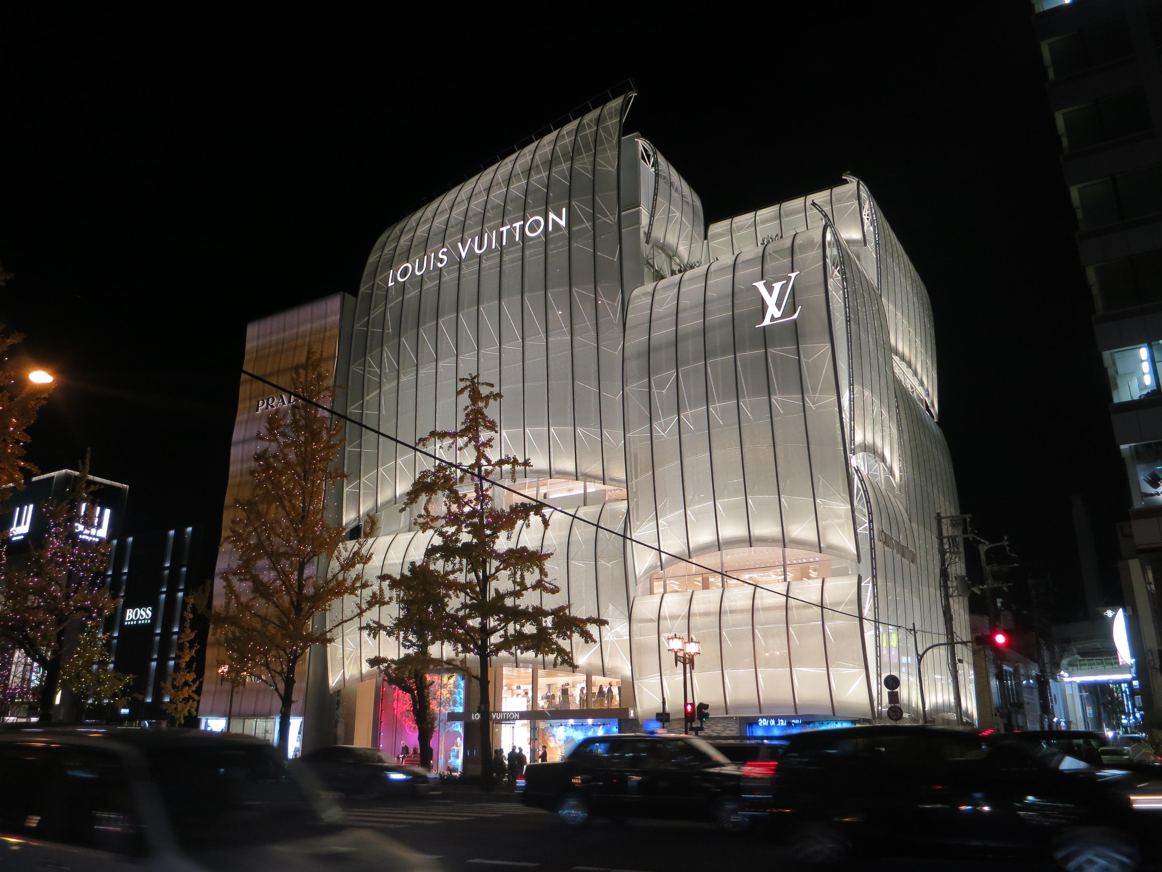 201218 ルイ・ヴィトン メゾン 大阪御堂筋 夜景