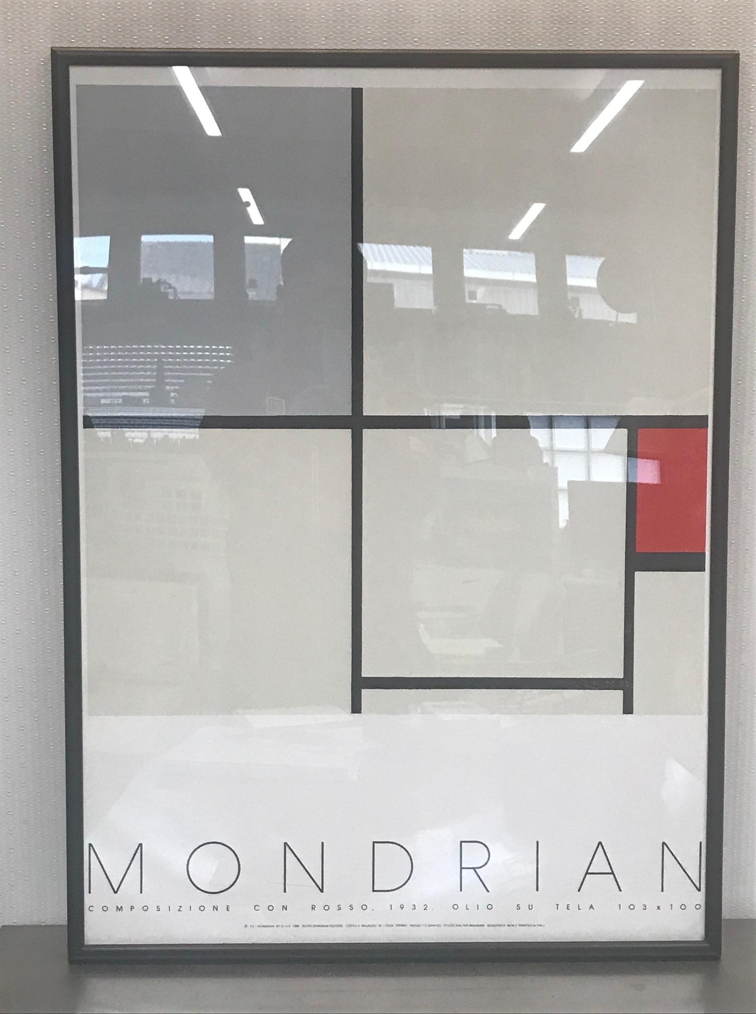 210301 ピート・モンドリアン 「赤と灰のコンポジション」